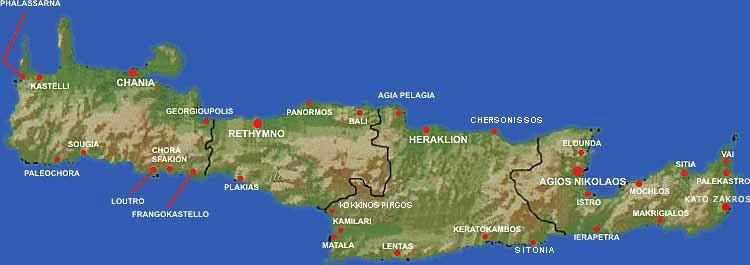 Carte Crete Sud Est.L